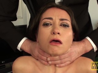 Gorgeous subslut facefucked and dommed by master Pascal