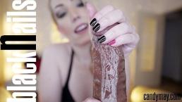 Candy May - Black nails Handjob
