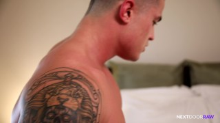 NextDoorRaw Straight Muscle Hunk BAREBACKS Cute College Step Bro