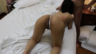 Drunk Asian slut got fucked without condom Stepson cavalli