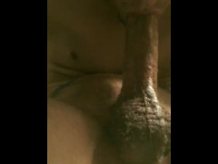 straight young man with huge dick selfsucking