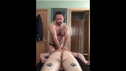 Hairy Bear massages and breeds rugby boy