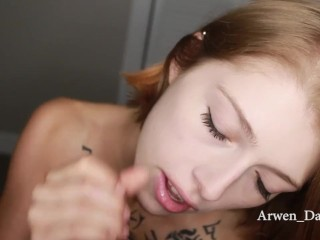 Arwen Datnoid Eye Contact Blowjob Swallow