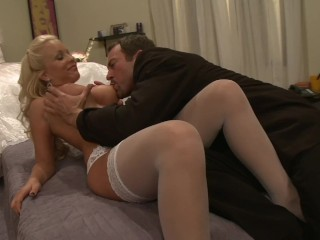 Nervous Husband on His WEDDING NIGHT with Hot Big Tits New Wife AWESOME