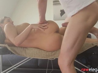 Massage eurobabe gets anally pounded