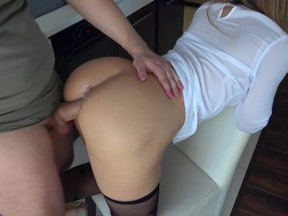Teen Sex Video Clips Hot Horny Stepsister Play With Steprother In Kitchen, Amateur Babe Cumshot Handjob
