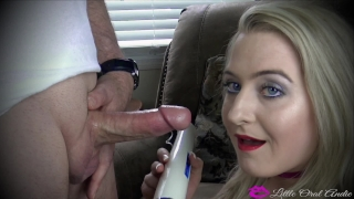 SHAKE N' BAKE His Cock In My Mouth And My Hitachi On JACKHAMMER! LOL =) Dressed young