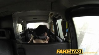 Legal fake barely taxi brunette style