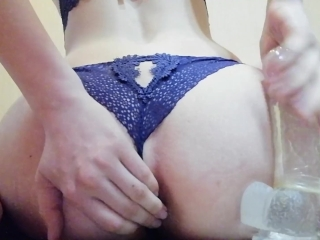 Preview 5 of The girl has herself in anal