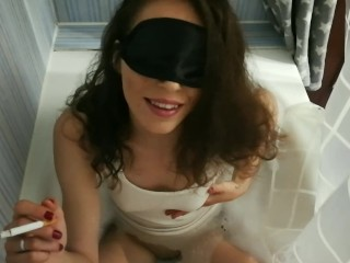 piss drinking and smoke sexy girl