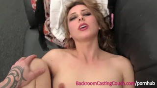 Pretty Blonde Stripper First Time Anal on Casting Couch Oriental solo