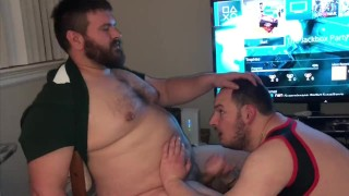 My kinky hot cub: the ever-keen blowjob machine! Best birthday party ever! Daddy mustache