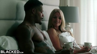 Curvy married with bbc sex blacked has blonde secret style facial
