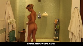 FamilyHookups - Hot Blonde Stepmom Fucks Her Annoying Stepson