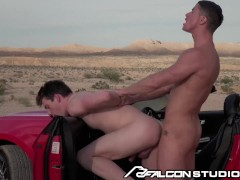 Rough Sex With Cute Muscle Stranger In The Desert