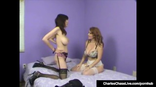 Charlee Chase Watches Stephanie Mars Get Rammed In Hot 3Way! Brunette mother