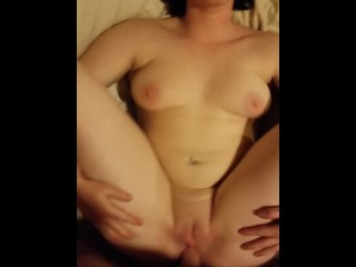 Brunette With Fat Ass Gets Pussy Full Of Cum