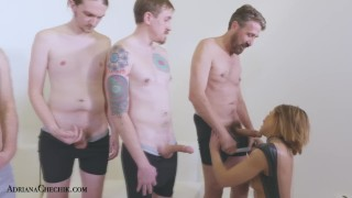 Her chechik a ins fans adriana fanblowbang sucks off blowbang cum