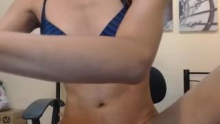 Hot Asian Shemale Masturbates her Hard Dick