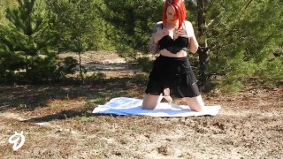 Outdoor Striptease Nina Devil