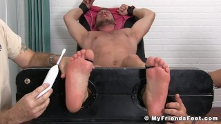 Submissive big man Hans Berlin tickled and pleased porno