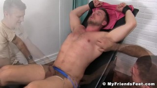 Submissive big man Hans Berlin tickled and pleased Hairy fucking