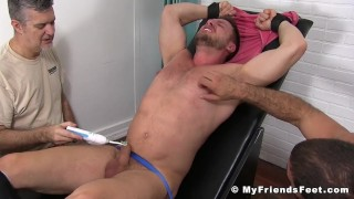 Tickled berlin pleased and big hans submissive man muscles tickling