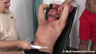 Submissive big man Hans Berlin tickled and pleased Throat bareback