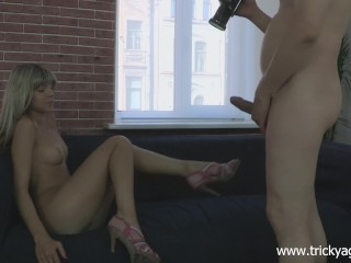 Tricky Agent - Gina Gerson - Fake blond girl is hot and ready to fuck!