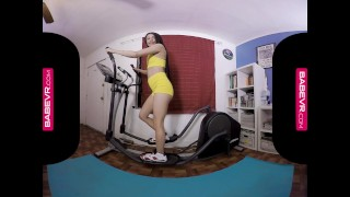 BaBeVR.com Masturbation Workout By Teen Latina Veronica Rodriguez