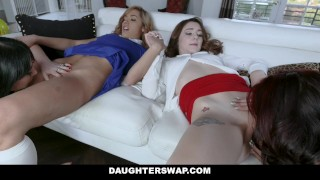 DaughterSwap - Two Hot Moms Teach Their Stepdaughters Lesbo Sex Fuck reality