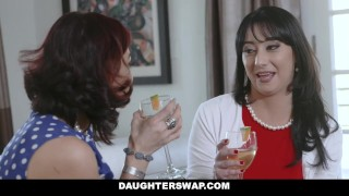 DaughterSwap - Two Hot Moms Teach Their Stepdaughters Lesbo Sex Cheating hot