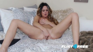 Whitnee James on Flirt4Free - Sexy Blonde Petite Babe Penetrates Both Holes