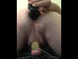 A quick play with a BIG butt plug