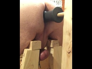 A quick ass fuck with my favorite toy, balls restrained