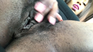Masturbating my hairy pussy in Best Buy parking lot. Dirty bikini