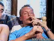 Smoking fetish twink bends over for hardcore analizing