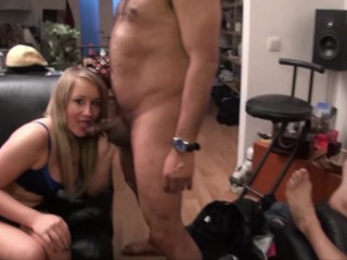 2 Wonderful French Bitches take 3 great Cocks at home. Real time.