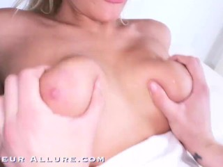 Amateur Allure Athena Palomino Busty Blonde Gets Banged and Swallows Cum