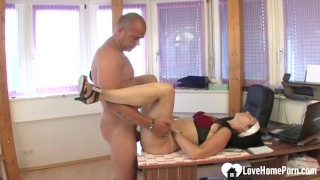 Sexy milf and her hunk are fucking