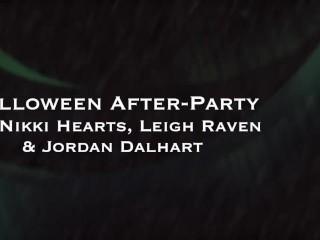 Amateur Allure Nikki Hearts, Leigh Raven & Jordan Dalhart Swallow Cock