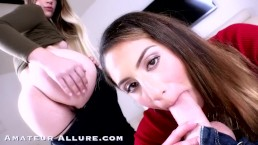 Amateur Allure Kendra Spade, Niki Snow & Liv Revamped Show Off Oral Talents