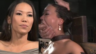 Kalina Ryu Tied, Throatfucked & Sybian
