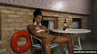 Exotic Transsexual Isa Potter Wanks Her Penis and Makes It Hard
