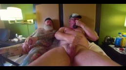 Bate Buddies Stroking in Hotel Pt 2