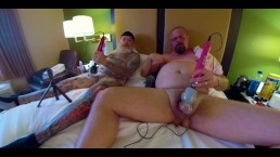 Bate Buddies Stroking in Hotel Pt 1