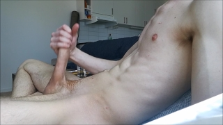 Hard big load and my alone home jerkning cock off big cumshot nude