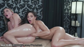 AllGirlMassage Abella Danger Licks,Fingers & Fists her to Ecstasy