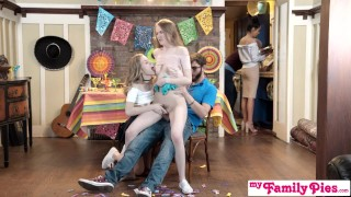 Step Sis And Teen Friend Sneak Fuck At Cinco De Mayo Party S2:E5 Mom big