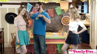 Step Sis And Teen Friend Sneak Fuck At Cinco De Mayo Party S2:E5 Style curvy